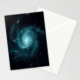 Spiral gALAxy Teal Stationery Cards