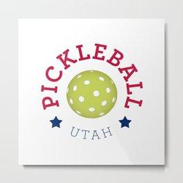 Pickleball Utah Metal Print
