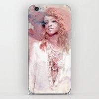 rihanna iPhone & iPod Skins featuring Rihanna by Kanelko
