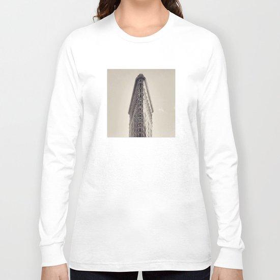 Flatiron Building - New York Skyscraper Long Sleeve T-shirt