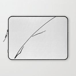 Black Writer's Quill Laptop Sleeve