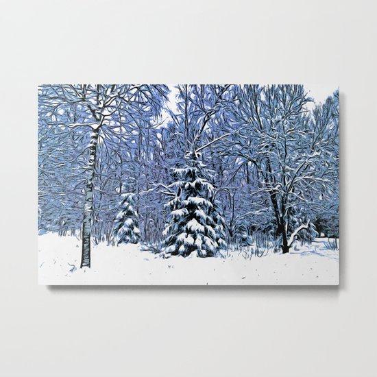 Winter forest II Metal Print
