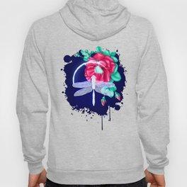 Full bloom | Dragonfly loves roses Hoody