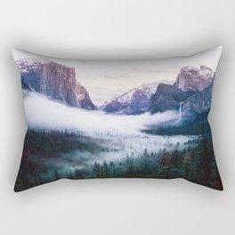 Misty Tunnel View - Yosemite National Park, CA Rectangular Pillow