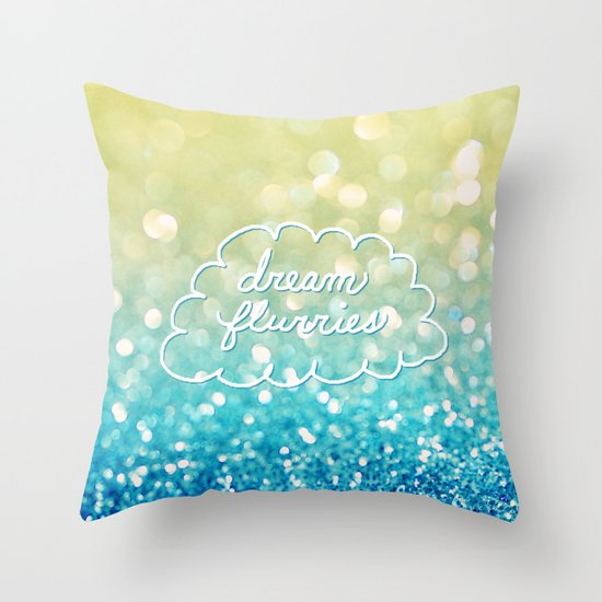 dream flurries Throw Pillow