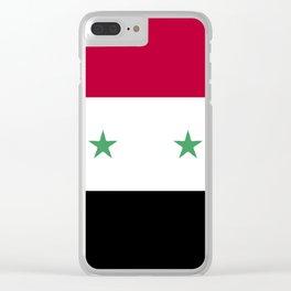 Syria flag emblem Clear iPhone Case