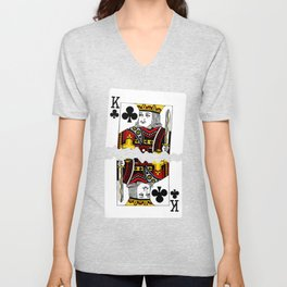 Torn Playing Card Unisex V-Neck