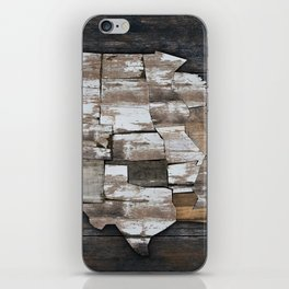 USA States Map - White iPhone Skin
