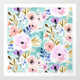 Willow Floral Art Print