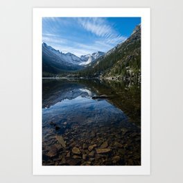 Mills Lake - Rocky Mountain National Park Art Print