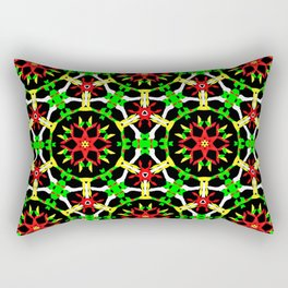 Poinsettia Patterns Rectangular Pillow