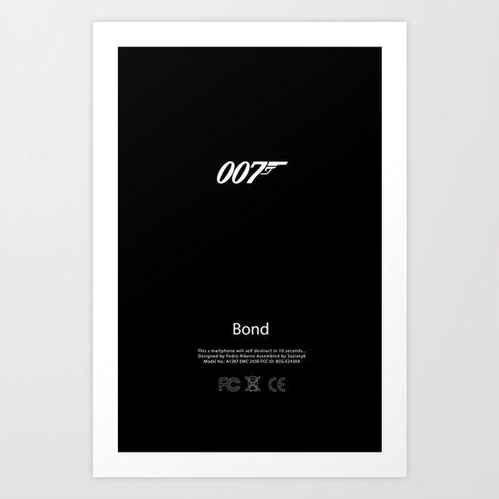007 iPhone Skin Art Print