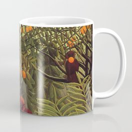 Apes in the Orange Grove by Henri Rousseau 1910 // Colorful Jungle Animal Landscape Scene Coffee Mug
