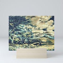 Oriental Hillside Mini Art Print