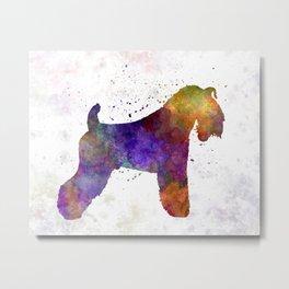 Kerry Blue Terrier 01 in watercolor Metal Print