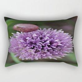 Wild Chive Flower Heads 2 Rectangular Pillow