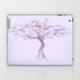 Quiet Acacia Zen Tree , Earthy African Bonsai Peace Lavendar Purple Laptop & iPad Skin