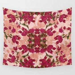 Retro Vintage Floral Motif Wall Tapestry
