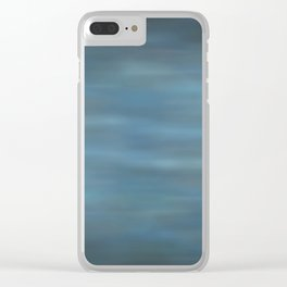 Abstract Soft Watercolor Gradient Ombre Blend 12 Black and Blue Clear iPhone Case