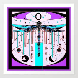 Mystical Dragonfly Universe Abstract Art Print