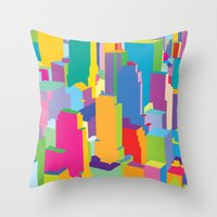 cityscape Throw Pillows featuring Cityscape by Glen Gould