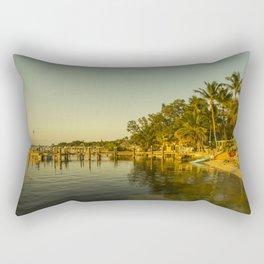 Key Largo Gold Rectangular Pillow