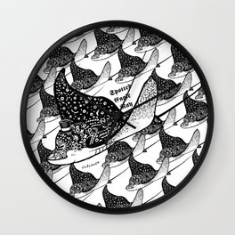 Spotted Eagle Ray I Wall Clock