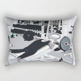 Corky @ the Gym.  Rectangular Pillow