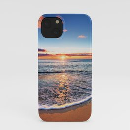 Tropical Sunset Relaxing Sandy Beach iPhone Case