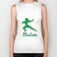 mulan Biker Tanks featuring Mulan by husavendaczek