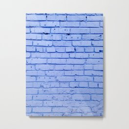 Purple Brick Wall Metal Print