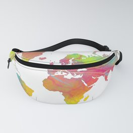World Map - Watercolor 6 Fanny Pack