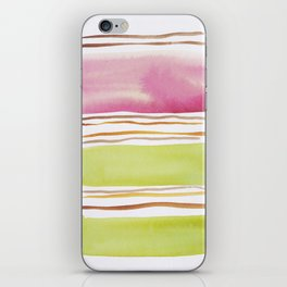 18  |181026 Lines & Color Block | Watercolor Abstract | Modern Watercolor Art iPhone Skin