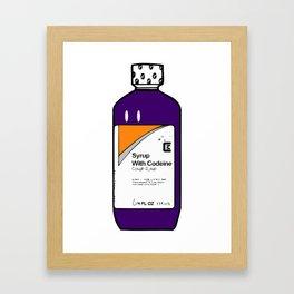 Codeine Bottle Cartoon Framed Art Print