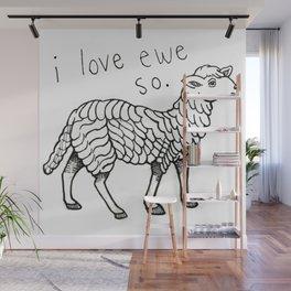 I love you so ewe Wall Mural