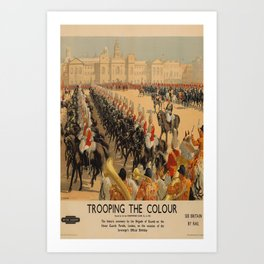 Trooping the Colour Placard Art Print
