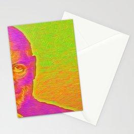 Steve Jobs Artistic Illustration Flourescent Style Stationery Cards