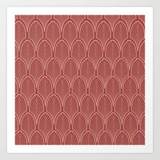 Art deco pattern Art Print