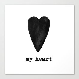 My Black Heart Canvas Print
