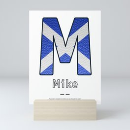 Mike - Navy Code Mini Art Print