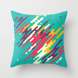 Rhythms on blue Throw Pillow