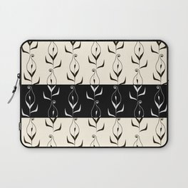 Art Deco No. 49. Block . Combined black and white pattern . Calla . Laptop Sleeve