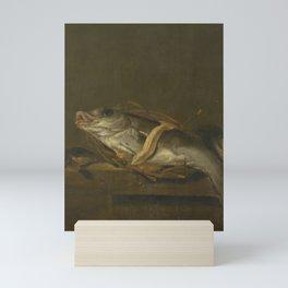 Still Life with a Haddock and Gurnard, Jan Vonck, 1640 - 1662 Mini Art Print
