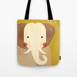 Elephant, Animal Portrait Tote Bag