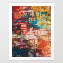 Abstract Mayhem Art Print