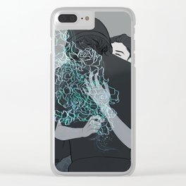 Amongst the weeds, Clear iPhone Case