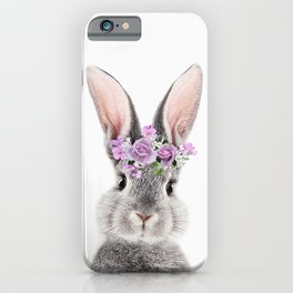 Bunny With Flower Crown iPhone Case