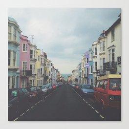 Brighton Houses Canvas Print