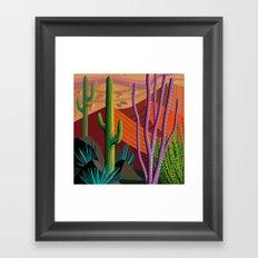 Cactus on Mountaintop Framed Art Print