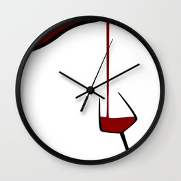 Pouring A Glass Of Wine Wall Clock